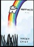 HAPPINESS DOESN'T EXIST