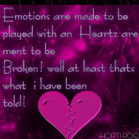 Emotions are made to be played with...
