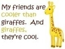 friends/giraffes