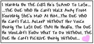 I wanna be the girl
