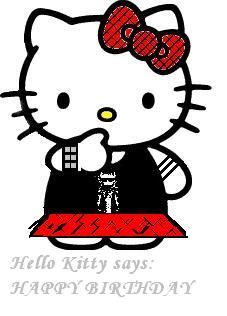 Hello Kitty Says: Happy Birthday