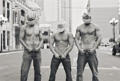 Three sexy cowboys...
