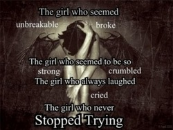 the girl who never stopped trying