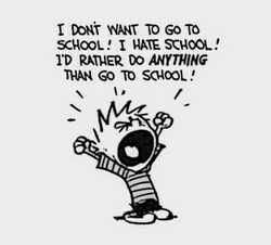 I don't want to go to school!