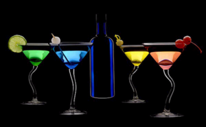 alcohol black background