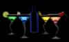 alcohol black background
