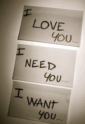 love need want