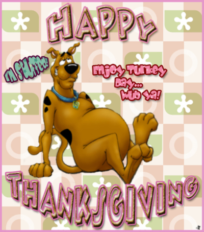 happy thanksgiving scooby