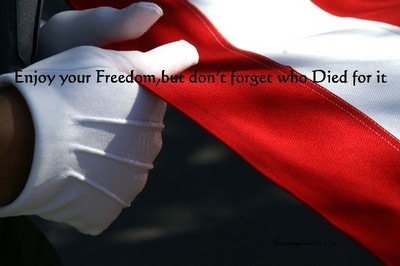 Enjoy your Freedom, but don't forget who Died for it