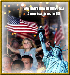 America lives in US