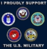 I proudly support the U.S. Military