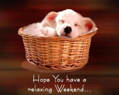 relaxing weekend
