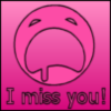 I miss you, pink background