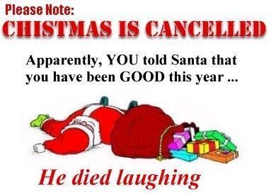 santa died laughing
