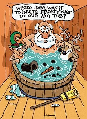 Hot Tub Santa