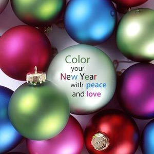COLOR YOUR NEW YEAR WITH PEACE AND LOVE