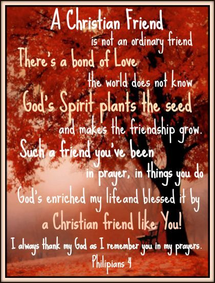 A CHRISTIAN FRIEND IS NOT AN ORDINARY FRIEND