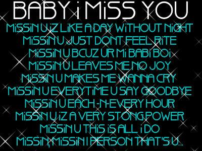 I Love N Miss You Quotes : Baby I Miss You :: Miss You :: MyNiceProfile.com