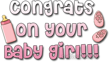 congrats on your baby girl