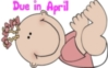 Cartoon Baby Girl- Due in Apri..