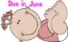 Cartoon Baby Girl- Due in June
