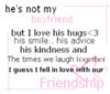 He's Not My Boyfriend - Friendship