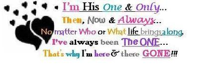 I am his one and only