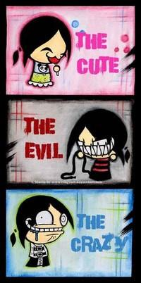 The Cute The Evil The Crazy Emo