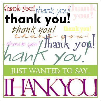 Just Wanted To Say Thankyou