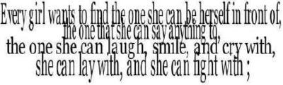 Every Girl Wants To Find The One