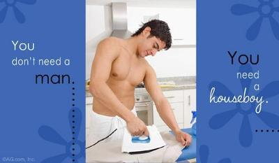 You Don't Need A Man You Need A Houseboy