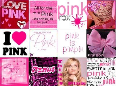 Pink Icons Collage