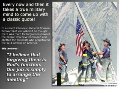 firemen raising american flag