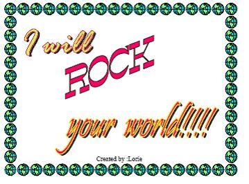 I will rock