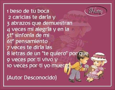 Beso De Tu Boca Caricias Te Daria Y Abrazos Que Demuestran Veces Mi Alegria Y En La