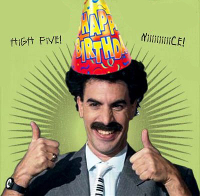 Set of Borat Birthday Card Pictures on TCS – Borat Birthday Card