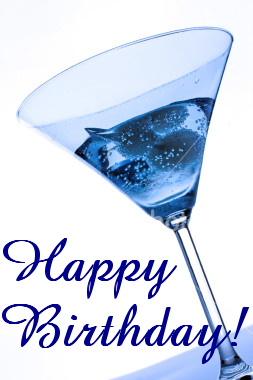 happy birthday martini