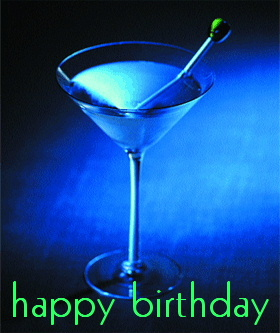 happy birthday martini
