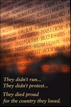 They didn't run , they didn't protest, They died proud for the country they loved