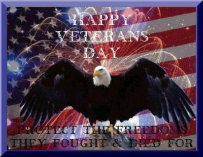 Happy Veterans day, freedoms