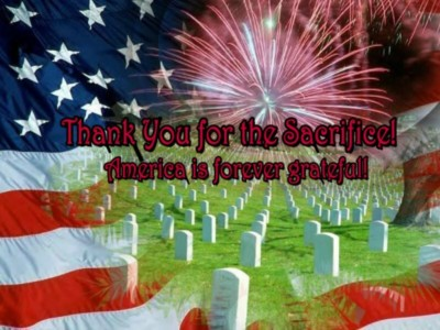 Thank you for the sacrifice! America is forever grateful!