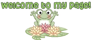 Welcome to my page-green frog