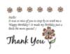 Birthday - Thank You